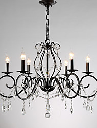 cheap -JLYLITE 6-Light 69 cm Candle Style Chandelier Metal Candle-style Painted Finishes Retro / Traditional / Classic 110-120V / 220-240V