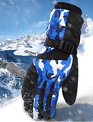 cheap -Winter Gloves Men's Snowsports Full Finger Gloves Winter Waterproof Windproof Breathable Waterproof Fabric PU(Polyurethane) Skiing Snowsports Snowboarding