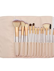 cheap -Professional Makeup Brushes Blush Brush 12pcs Full Coverage Synthetic Hair Alloy for Eyeliner Brush Blush Brush Foundation Brush Lip Brush Eyeshadow Brush Eyelash Brush Powder Brush