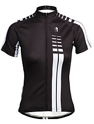 cheap -ILPALADINO Women's Short Sleeve Cycling Jersey Black Plus Size Bike Jersey Top Mountain Bike MTB Road Bike Cycling Breathable Quick Dry Ultraviolet Resistant Sports Terylene Clothing Apparel