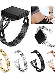 Недорогие -Ремешок для часов для Fitbit Blaze Fitbit Спортивный ремешок / Дизайн украшения Нержавеющая сталь / Керамика Повязка на запястье