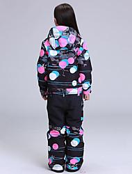 cheap -GSOU SNOW Girls' Ski Jacket with Pants Ski / Snowboard Winter Sports Waterproof Windproof Warm POLY Clothing Suit Ski Wear / Kid's