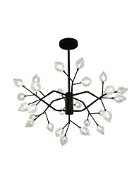 cheap -ZHISHU 80 cm Mini Style Chandelier Metal Glass Sputnik Painted Finishes Artistic / Nature Inspired 110-120V / 220-240V