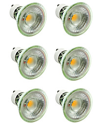 cheap -6pcs 5 W LED Spotlight 500 lm GU10 MR16 1 LED Beads COB Dimmable Decorative Warm White Cold White 220-240 V