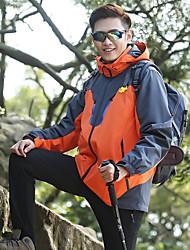 cheap -Men's Hiking 3-in-1 Jackets Hiking Fleece Jacket Winter Outdoor Thermal / Warm Windproof Breathable Anatomic Design 3-in-1 Jacket Winter Jacket Fleece Single Slider Ski / Snowboard Climbing Camping