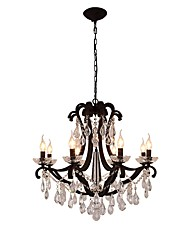 cheap -JLYLITE 8-Light 74 cm Candle Style Chandelier Metal Candle-style Painted Finishes Retro / Traditional / Classic 110-120V / 220-240V