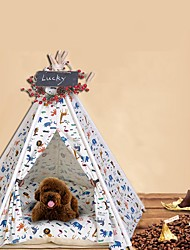 cheap -Dog Cat Bed Teepee Tipi Animal Warm Soft Tent Cute Fabric for Large Medium Small Dogs and Cats
