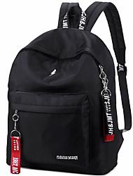 cheap -School Bag Women's Polyester Nylon Zipper Solid Color Daily / School Black