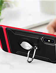cheap -Case For Apple iPhone X with Stand / Ring Holder Back Cover Armor Hard TPU