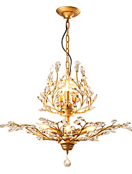 cheap -JLYLITE 8-Light 78 cm Mini Style Chandelier Metal Crystal Painted Finishes Rustic / Lodge / Retro 110-120V / 220-240V