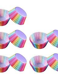 abordables -100pcs 120g / m2 maille de polyester élastique Design nouveau Gâteau Petit gâteau Chocolat Moules à gâteaux Dessert Décorateurs Manteaux et revêtements Outils de cuisson