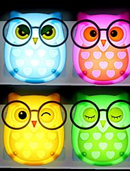 cheap -Owl Shape Night Light Staycation Cartoon Wireless Light Control Wall Plug AC Powered 1pc