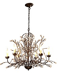 cheap -JLYLITE 6-Light 92 cm Mini Style Chandelier Metal Candle-style Painted Finishes Rustic / Lodge / Retro 110-120V / 220-240V
