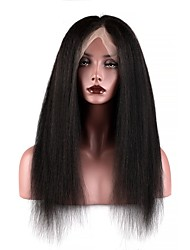 cheap -Human Hair Full Lace Wig style Brazilian Hair Burmese Hair Yaki Straight Natural Natural Black Wig 130% Density with Baby Hair Women Easy dressing Best Quality Hot Sale Women's Long Human Hair Lace