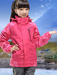 cheap -Girls' Hiking 3-in-1 Jackets Hiking Jacket Winter Outdoor Camo Windproof Breathable Warm Ultra Light (UL) Jacket 3-in-1 Jacket Full Length Visible Zipper Camping / Hiking Hunting Outdoor Exercise