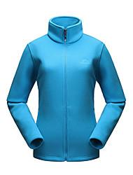 cheap -Women's Hiking Fleece Jacket Winter Outdoor Lightweight Windproof Breathable Warm Jacket Fleece Full Length Visible Zipper Camping / Hiking Ski / Snowboard Winter Sports Black / Fuchsia / Green / Blue