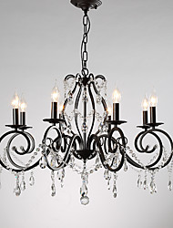 cheap -8-Light 78 cm Candle Style Chandelier Metal Candle-style Painted Finishes Retro / Traditional / Classic 110-120V / 220-240V
