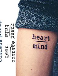 cheap -10 pcs Temporary Tattoos New Design / Novelty Face / brachium / Wrist Water-Transfer Sticker / Tattoo Sticker