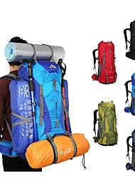 cheap -75 L Hiking Backpack Rucksack Lightweight Breathable Rain Waterproof Professional Outdoor Hiking Camping Travel Nylon Red Green Blue / Wear Resistance