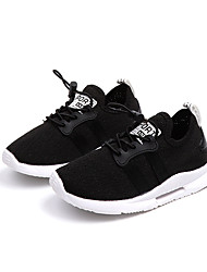 cheap -Boys' / Girls' Comfort PU Athletic Shoes Toddler(9m-4ys) / Little Kids(4-7ys) / Big Kids(7years +) Walking Shoes Lace-up / Split Joint Black / White Spring &  Fall / Spring & Summer