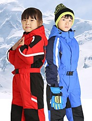 cheap -Boys' Girls' Ski Suit Skiing Camping / Hiking Snowboarding Thermal / Warm Waterproof Windproof POLY Clothing Suit Ski Wear / Winter / Patchwork