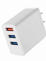 Недорогие -Портативное зарядное устройство Зарядное устройство USB Стандарт США Несколько разъемов / QC 3.0 3 USB порта 3.1 A 100~240 V для Универсальный