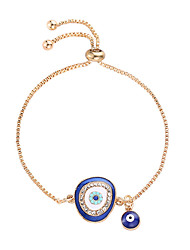 cheap -Women's Cubic Zirconia Pendant Bracelet Evil Eye Trendy Ethnic Fashion Rhinestone Bracelet Jewelry Dark Blue / Light Blue For Daily Masquerade Holiday