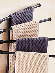 cheap -Towel Bar New Design Contemporary Aluminum 1pc 4-towel bar Wall Mounted
