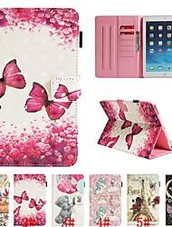 cheap -Case For Apple iPad Mini 5 / iPad New Air(2019) / iPad Air Card Holder / with Stand / Flip Full Body Cases Animal / 3D Cartoon / Flower Hard PU Leather / iPad Pro 10.5 / iPad (2017)