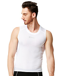 cheap -Nuckily Men's Women's Sleeveless Cycling Vest White Solid Color Bike Breathable Quick Dry Anatomic Design Sports Solid Color Mountain Bike MTB Road Bike Cycling Clothing Apparel / Stretchy
