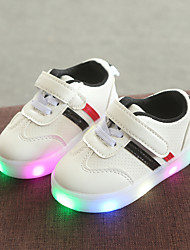 cheap -Boys' / Girls' LED / Comfort / LED Shoes PU Sneakers Toddler(9m-4ys) / Little Kids(4-7ys) Hook & Loop / LED Black / Red / Green Spring &  Fall
