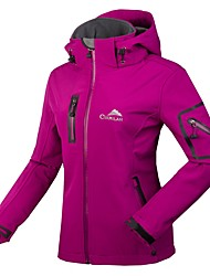 cheap -Women's Hiking Softshell Jacket Hiking Jacket Winter Outdoor Waterproof Windproof Breathable Rain Waterproof Jacket Winter Jacket Top Fleece Softshell Single Slider Ski / Snowboard Camping / Hiking