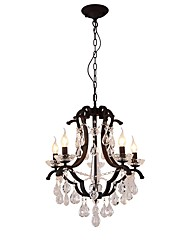 cheap -JLYLITE 5-Light 55 cm Candle Style Chandelier Metal Candle-style Painted Finishes Retro / Traditional / Classic 110-120V / 220-240V