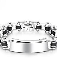 cheap -Men's Chain Bracelet Thick Chain European Fashion Titanium Steel Bracelet Jewelry Cool White For Daily / Platinum Plated