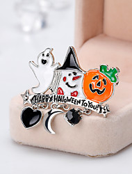 cheap -Women's Brooches Classic Cartoon European Fashion Brooch Jewelry Orange For Halloween Daily
