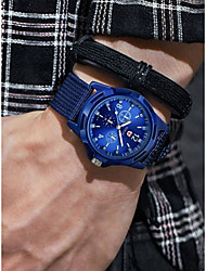 cheap -Men's Sport Watch Aviation Watch Quartz Black / Blue / Green Chronograph Casual Watch Cool Analog Vintage Fashion - Black Green Blue One Year Battery Life