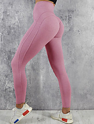 cheap -Women's High Rise Yoga Pants Solid Color Mesh Zumba Running Dance Tights Leggings Activewear Butt Lift Tummy Control Power Flex 4 Way Stretch Stretchy Skinny Slim