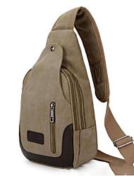 Недорогие -Муж. Молнии холст Слинг сумки на ремне Брезентовый чехол Светло-зеленый / Коричневый / Хаки