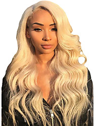 cheap -Synthetic Wig Synthetic Lace Front Wig Wavy Middle Part Lace Front Wig Blonde Long Light Blonde Synthetic Hair 24 inch Women's Soft Adjustable Best Quality Blonde Modernfairy Hair / Natural Hairline