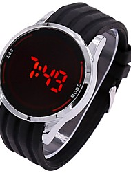 cheap -Couple's Sport Watch Wrist Watch Digital Silicone Black / White / Blue Chronograph Cute Noctilucent Digital Casual Minimalist - Red Blue Silver / Black One Year Battery Life