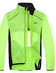 cheap -Miloto Men's Cycling Jacket Bike Jacket Windbreaker Windproof Reflective Strips Back Pocket Sports Green / Black Mountain Bike MTB Road Bike Cycling Clothing Apparel Bike Wear