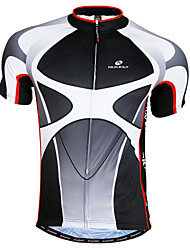 cheap -Nuckily Men's Short Sleeve Cycling Jersey Black+Gray Patchwork Bike Jersey Top Mountain Bike MTB Road Bike Cycling Breathable Quick Dry Sports Clothing Apparel / Advanced / Advanced / SBS Zipper