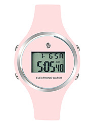 cheap -Women's Wrist Watch Digital Digital Ladies Calendar / date / day LCD Tachymeter / Two Years / Silicone