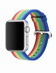 Недорогие -Нейлон Ремешок для часов Ремень для Apple Watch Series 4/3/2/1 Синий / Оранжевый / Серый 23см / 9 дюйма 2.1cm / 0.83 дюймы