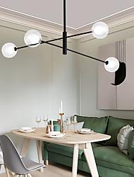 cheap -4 Heads 107cm LED Chandelier Nordic Pendant Light Metal Glass Living Room Dining Room Bedroom Painted Finishes 110-120V 220-240V
