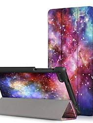 Недорогие -Кейс для Назначение Lenovo Lenovo Tab 7 Essential / Lenovo Tab 4 7 Essential Защита от пыли / Флип / Авто Режим сна / Пробуждение Чехол Мультипликация Твердый Кожа PU