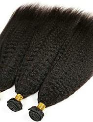 Недорогие -3 Связки Перуанские волосы Естественные прямые Натуральные волосы Необработанные натуральные волосы Головные уборы Человека ткет Волосы Уход за волосами 8-28 дюймовый Естественный цвет / 8A