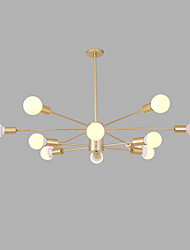 cheap -12 Bulbs 96 cm Creative Chandelier Metal Sputnik Gold / Painted Finishes Artistic / Modern 110-120V / 220-240V