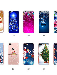 cheap -Case For Apple iPhone X / iPhone 8 Plus / iPhone 8 Pattern Back Cover Christmas Soft TPU