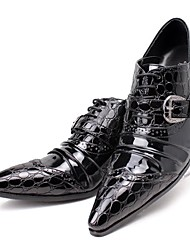 cheap -Men's Novelty Shoes Leather / Faux Leather Fall & Winter Casual Oxfords Height-increasing Black / Wedding / Party & Evening / Party & Evening / Dress Shoes